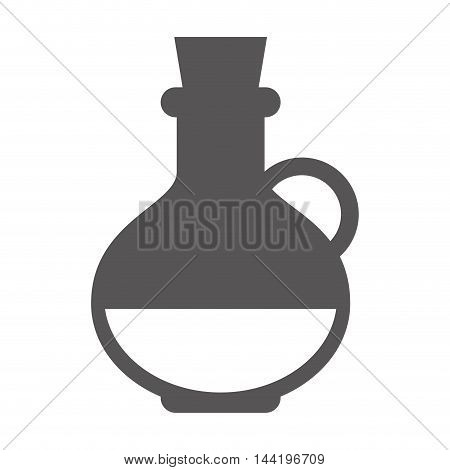 bottle container beverage glass olive oil silhouette vector illustration