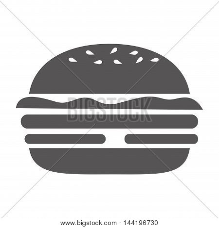 burger fast delivery food menu delicious silhouette vector illustration