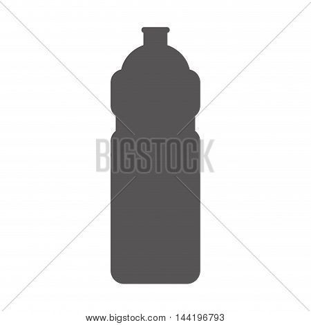 water bottle sport container drink liquid silhouette vector illustration