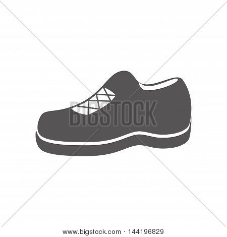 shoe casual footwear lace foot clothing silhouette vector illustration