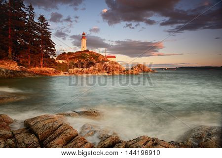 Point Atkinson Lighthouse At Sunset