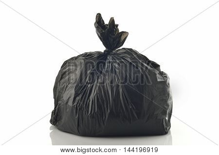 Trash Bag on White Background Shot in Studio