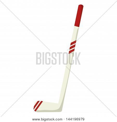 hockey stick sport equipment game competition vector illustration