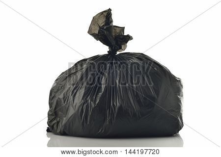 Garbage Bag on White Background Shot in Studio