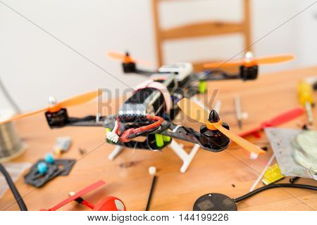 Making of flying drone at home