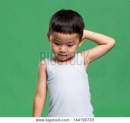 Little boy feeling sorry