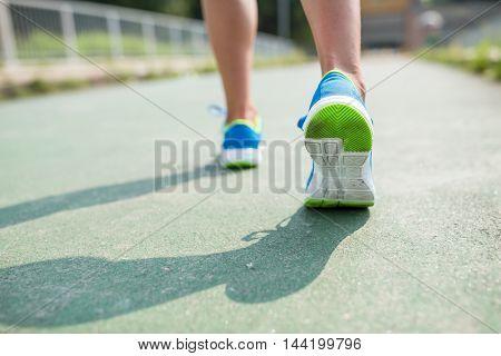 Girl jogging at outdoor
