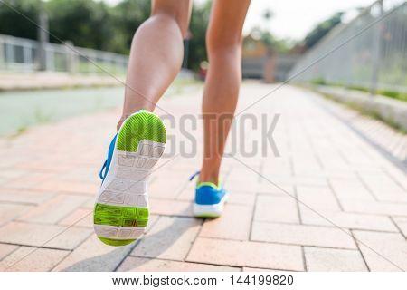 Girl running at outdoor