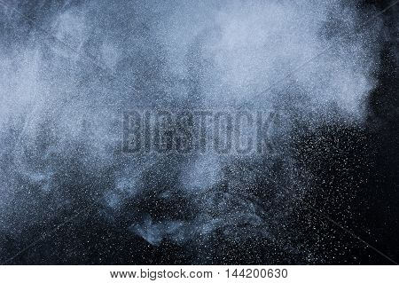 Abstract White Powder Explosion.