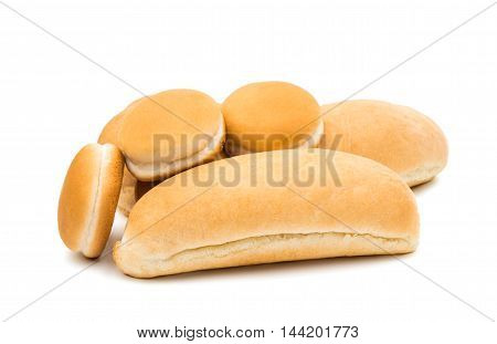 buns bake  burger on a white background