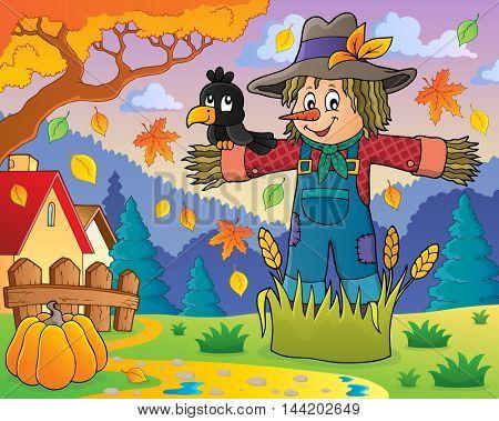 Scarecrow theme image 2 - eps10 vector illustration.