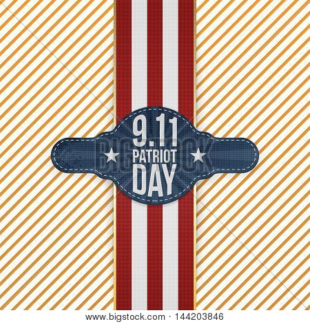 Patriot Day 9-11 realistic patriotic Emblem Template