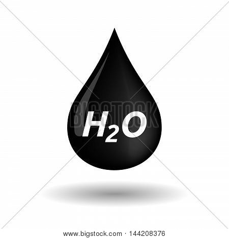 Isolated Oil Drop Icon With    The Text H2O