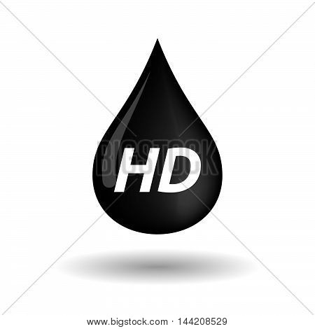 Isolated Oil Drop Icon With    The Text Hd