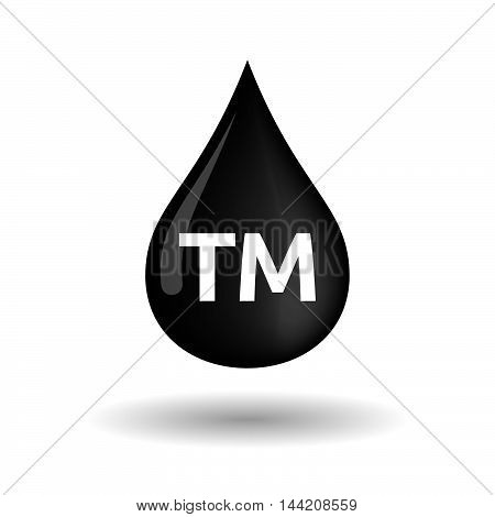 Isolated Oil Drop Icon With    The Text Tm