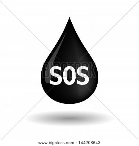 Isolated Oil Drop Icon With    The Text Sos