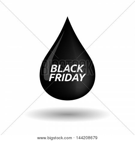 Isolated Oil Drop Icon With    The Text Black Friday