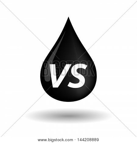Isolated Oil Drop Icon With    The Text Vs