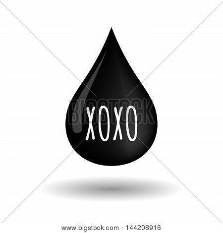Isolated Oil Drop Icon With    The Text Xoxo