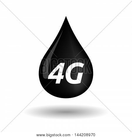 Isolated Oil Drop Icon With    The Text 4G