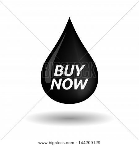 Isolated Oil Drop Icon With    The Text Buy Now
