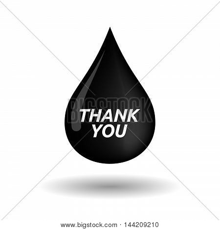 Isolated Oil Drop Icon With    The Text Thank You