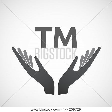 Isolated Hands Offering Icon With    The Text Tm
