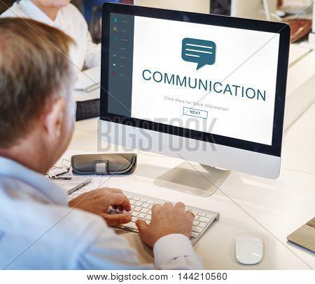 Webpage Online Communication Speech Concept