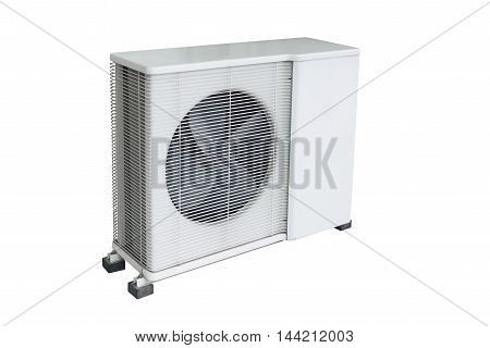 Air condition condenser unit isolated on white background