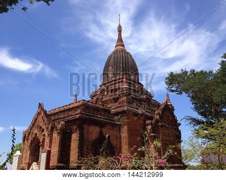 Buddhist Ancient temples and old pagoda in Bagan Myanmar