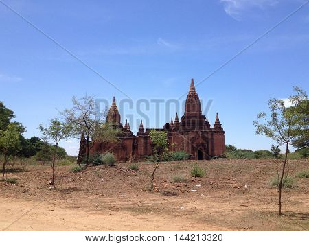 Ancient Temples and old pagoda in Bagan Myanmar
