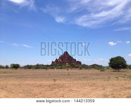 Ancient Temples and big pagoda in Bagan Myanmar