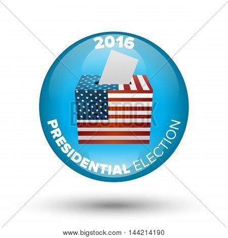United States Election Vote Badge with shadow on white