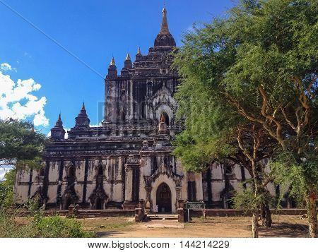 Acient ruins Pagoda in Bagan city Myanmar