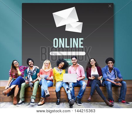 Online Connection Internet Network Social Media Concept