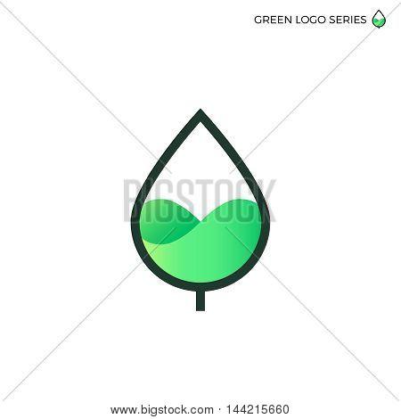Leaf logo. Green energy logo. Bio energy. E