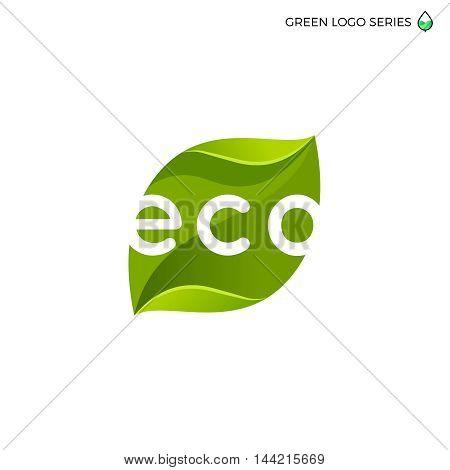 Leaf logo. Green energy logo. Bio energy.