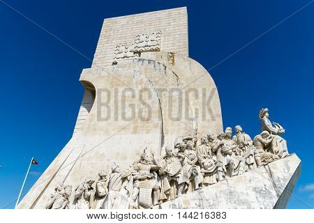 Monument of Discoveries in Lisbon in Portugal
