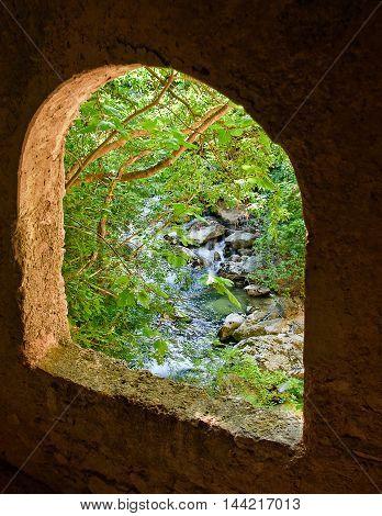 View from window from Saint Venanzio hermit