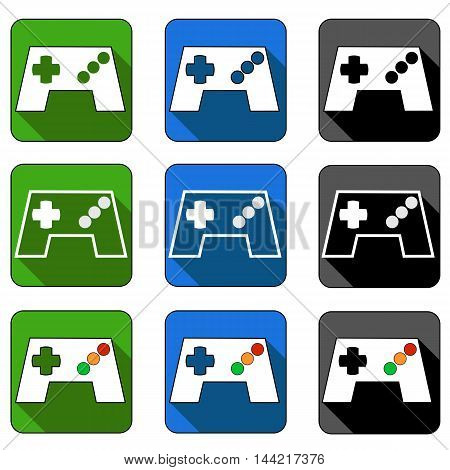 Gamepad or video game controller icons for apps and websites