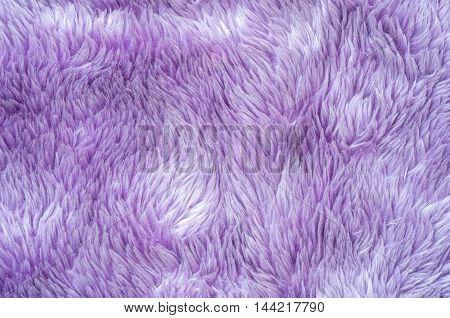 Closeup surface abstract fabric pattern at the purple fabric carpet at the floor of house texture background