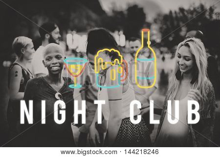Party Night Life Fun Enjoy Concept