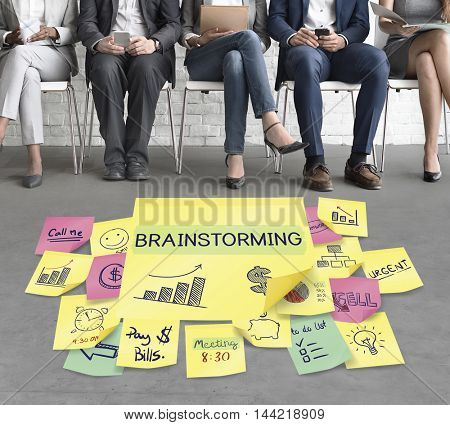 Brainstorming Discussion Plan Marketing Graphic Concept