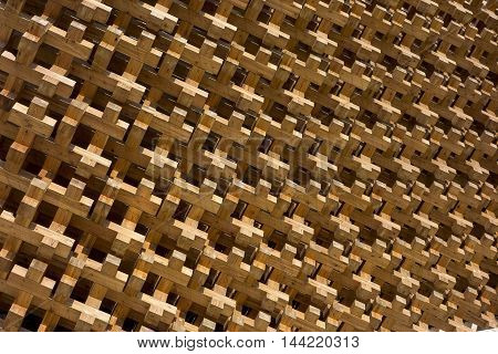 geometric shapes of wood in the Japonise style