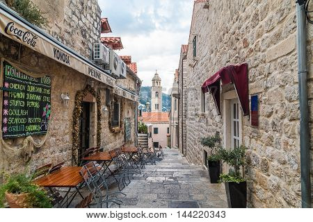 DUBROVNIK CROATIA - 11TH AUGUST 2016: A view of streets of Dubrovnik Old Town in the morning.