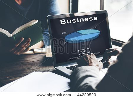 Business Organization Pie Chart Statistics Concept