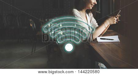 Wireless Internet Wifi Icon Concept