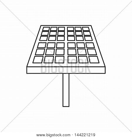 Solar energy panel icon in outline style isolated on white background