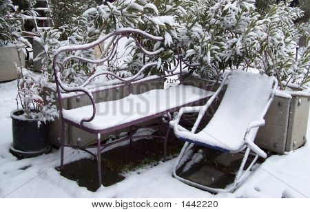 Winter Collection Snow Bench
