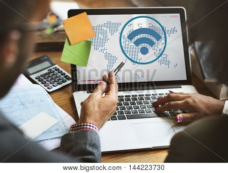 Global Communications Wireless Technology Connection Concept
